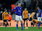 Jamie Vardy of Leicester City waits for the VAR decision during the Premier League match at Molineux, Wolverhampton. Picture date: 14th February 2020. Picture credit should read: Darren Staples/Sportimage