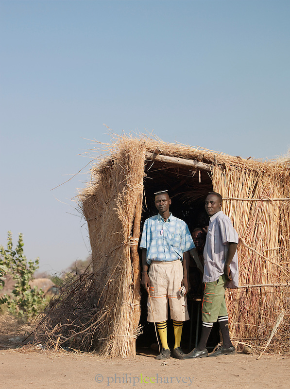 Teachers at a school of the Nuba tribe in Nyaro village, Kordofan region, Sudan