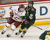 Ryan Fitzgerald (BC - 19), Trey Phillips (UVM - 26) - The visiting University of Vermont Catamounts tied the Boston College Eagles 2-2 on Saturday, February 18, 2017, Boston College's senior night at Kelley Rink in Conte Forum in Chestnut Hill, Massachusetts.Vermont and BC tied 2-2 on Saturday, February 18, 2017, Boston College's senior night at Kelley Rink in Conte Forum in Chestnut Hill, Massachusetts.