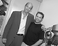 September 2,  2003, Montreal, Quebec, Canada<br /> <br /> Jason Priestley , actor (R) and Anthony Edwards, Producer and former TV Star of ER (L) pose for a photo for the movie DIE MOMMY DIE !<br /> september 2 2003<br /> <br /> The Festival runs from August 27th to september 7th, 2003<br /> <br /> <br /> Mandatory Credit: Photo by Pierre Roussel- Images Distribution. (©) Copyright 2003 by Pierre Roussel <br /> <br /> All Photos are on www.photoreflect.com, filed by date and events. For private and media sales