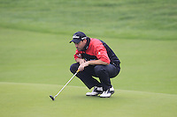 David Howell (ENG) on the 3rd green during Thursday's Round 1 of the 2014 BMW Masters held at Lake Malaren, Shanghai, China 30th October 2014.<br /> Picture: Eoin Clarke www.golffile.ie