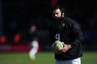 Kane Palma-Newport of Bath Rugby looks on during the pre-match warm-up. Aviva Premiership match, between Exeter Chiefs and Bath Rugby on February 28, 2016 at Sandy Park in Exeter, England. Photo by: Patrick Khachfe / Onside Images