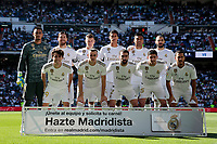 Real Madrid's team photo during La Liga match between Real Madrid and Granada CF at Santiago Bernabeu Stadium in Madrid, Spain. October 05, 2019. (ALTERPHOTOS/A. Perez Meca)<br /> Liga Spagna 2019/2020 <br /> Real Madrid - Grenada <br /> Foto Alterphotos / Insidefoto <br /> ITALY ONLY