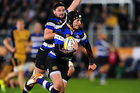 Jack Wilson of Bath Rugby runs in a try in the first half. Aviva Premiership match, between Bath Rugby and Bristol Rugby on November 18, 2016 at the Recreation Ground in Bath, England. Photo by: Patrick Khachfe / Onside Images