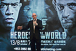 Loren Mack, representative of One Championship - Heroes of the World talks during the press conference on 04 August 2016 held at Conrad Hotel, Hong Kong, China. Photo by Marcio Machado / Power Sport Images