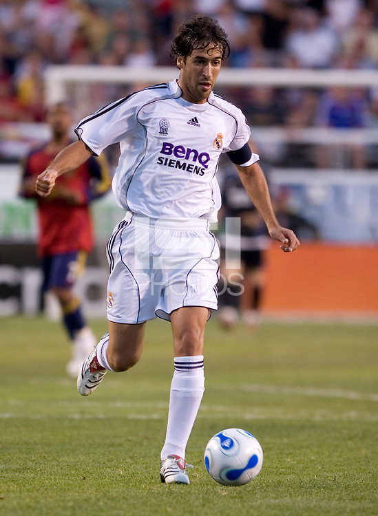 Raul Gonzalez Blanco in the Real Madrid 2-0 win over Real Salt Lake at Rice Eccles Stadium in Salt Lake City, Utah August 12, 2006