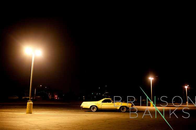A car parked outside of the Bell Recreation Center after hours in Sun City, Arizona March 13, 2010. 2010 marks Sun City the first planned retirement city in the United States' 50th anniversary.