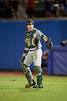 Siena Saints catcher Phil Madonna (3) during a game against the Florida Gators on February 16, 2018 at Alfred A. McKethan Stadium in Gainesville, Florida.  Florida defeated Siena 7-1.  (Mike Janes/Four Seam Images)