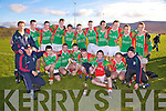 South Kerry Minor Champions St Michaels/Foilmore who defeated St Marys/Renard 2-8 to 0-11 in Valentia on Saturday were front l-r; D.J. Moran(Selector), Daragh Scanlon, James Moran(Captain), Shane O'Driscoll, Vinny Casey, Naoise Tarrant, Jeremiah Moran, Bernard Kelly(Selector), back l-r; Brian Galvin(Trainer), Daragh O'Sullivan, Kevin Griffin, Mark McCarthy, Cormac O'Sullivan, Ger Lynch, Jerry Cronin, Eanna O'Connor, Darren O'Sullivan, Cathal Brennan & Fiona?n Tarrant.