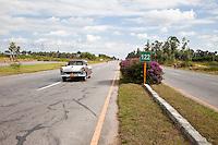 Cuba, Pinar del Rio Region, Viñales (Vinales) Area.  Highway A4.  1950s Ford.