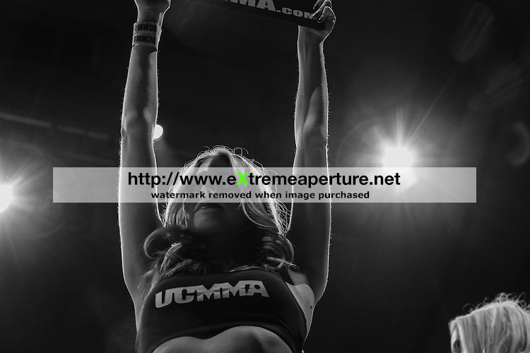 LONDON, UK, 6th September, 2014. Ring Girls at the UCMMA 40 event in Troxy, London