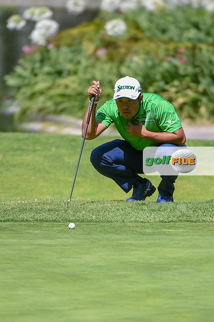Hideki Matsuyama (JPN) looks over his putt on 6 during round 1 of the World Golf Championships, Mexico, Club De Golf Chapultepec, Mexico City, Mexico. 2/21/2019.<br /> Picture: Golffile | Ken Murray<br /> <br /> <br /> All photo usage must carry mandatory copyright credit (© Golffile | Ken Murray)