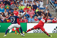 Bridgeview, IL - Saturday, June 09, 2018: The Chicago fire played the New England Revolution in a Major League Soccer (MLS) game at Toyota Park.