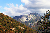 Stock photo: Clouds floating over mount Whitney of Sequoia national park forest mountain.