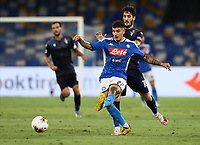 1st August 2020; Stadio San Paolo, Naples, Campania, Italy; Serie A Football, Napoli versus Lazio;  Giovanni Di Lorenzo of Napoli passes the ball away from danger