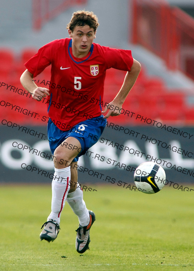 Fudbal, .Reprezentacija Srbije, U-21, kvalifikacije.Serbia Vs. Norway (Norveska).Nemanja Matic.Novi Sad, 15.11.2009..foto: Srdjan Stevanovic/Starsportphoto ©