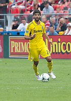 July 20, 2013: Columbus Crew defender/midfielder Agustin Viana #24 in action during a game between Toronto FC and the Columbus Crew at BMO Field in Toronto, Ontario Canada.<br /> Toronto FC won 2-1.