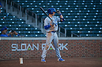AZL Royals Bobby Witt, Jr. (17) on deck during his professional debut in an Arizona League game against the AZL Cubs 1 on June 30, 2019 at Sloan Park in Mesa, Arizona. AZL Royals defeated the AZL Cubs 1 9-5. (Zachary Lucy / Four Seam Images)