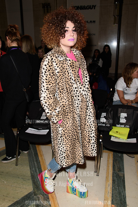 Lois Winstone at the Pam Hogg show during London Fashion Week AW18, at the Freemasons' Hall in London, UK. <br /> 16 February  2018<br /> Picture: Steve Vas/Featureflash/SilverHub 0208 004 5359 sales@silverhubmedia.com