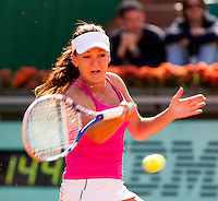 Agnieszka RADWANSKA (POL) (12) against Yanina WICKMAYER (BEL) (21 ) in the 3rd round of the women's singles. Agnieszka Radwanska beat Yanina Wickmayer  6-4 6-4  ..Tennis - Grand Slam - French Open - Roland Garros - Paris - Day 7 -  Sat May 28th 2011..© AMN Images, Barry House, 20-22 Worple Road, London, SW19 4DH, UK..+44 208 947 0100.www.amnimages.photoshelter.com.www.advantagemedianetwork.com.