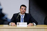 """CURITIBA, PR, 17.03.2017 - LAVA-JATO – Mauricio Moscardi Grillo, delegado da Policia Federal,responsavel pela operação Carne Fraca durante a coletiva de imprensa na sede da Policia Federal em Curitiba (PR) na manhã desta sexta-feira (17). A  """"Operação Carne Fraca"""" deflagrada nesta sexta-feira, com o objetivo de desarticular organização criminosa liderada por fiscais agropecuários federais e empresários do agronegócio.  (Foto: Paulo Lisboa/Brazil Photo Press)"""