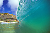 Big wave about to crash, Sandy beach, Oahu.
