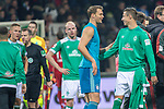 01.12.2018, Weser Stadion, Bremen, GER, 1.FBL, Werder Bremen vs FC Bayern Muenchen, <br /> <br /> DFL REGULATIONS PROHIBIT ANY USE OF PHOTOGRAPHS AS IMAGE SEQUENCES AND/OR QUASI-VIDEO.<br /> <br />  im Bild<br /> <br /> <br /> Davy Klaassen (Werder Bremen #30)<br /> Manuel Neuer (FC Bayern Muenchen #01) <br /> Marco Friedl (Werder Bremen #32)<br /> <br /> Foto &copy; nordphoto / Kokenge