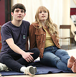 """Jonny Amies and Erika Olson during the Sneak Peak presentation of the World Premiere production of """"My Very Own British Invasion"""" on January 16, 2019 at the Church of Saint Paul The Apostle in New York City."""