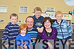 The Daly family from Scartaglen at the official opening of the Castleisland Community Centre on Sunday l-r: Diarmuid, Ma?ire, Jerimiah, Donnacha, Maria and Bryan