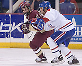 Benn Ferreiro, JR Bria - The Boston College Eagles defeated the University of Massachusetts-Lowell River Hawks 4-3 in overtime on Saturday, January 28, 2006, at the Paul E. Tsongas Arena in Lowell, Massachusetts.