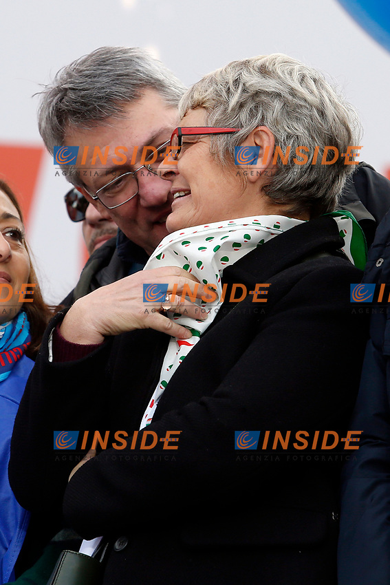 Annamaria Furlan e Maurizio Landini<br /> Rome February 9th 2019. Demonstration of the three Italian trade unions, CGIL, CISL, UIL.<br /> Foto Samantha Zucchi Insidefoto
