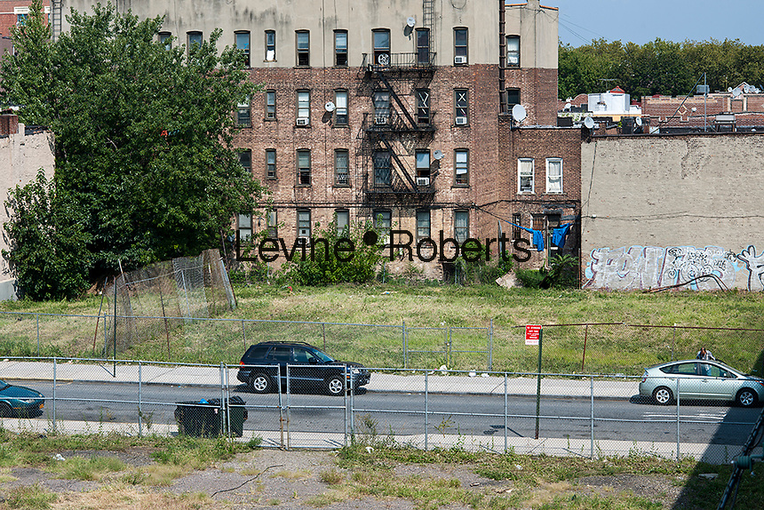 Vacant lots ready for development in the East New York neighborhood of Brooklyn in New York are seen on Saturday, September 1, 2012. (© Richard B. Levine)