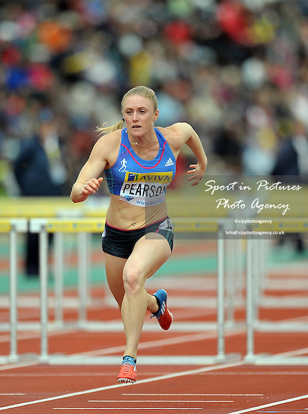 Sally Pearson (AUS) 100m Hurdles  - PHOTO: Mandatory by-line: Garry Bowden/SIP/Pinnacle - Photo Agency UK Tel: +44(0)1363 881025 - Mobile:0797 1270 681 - VAT Reg No: 768 6958 48 - 14/07/2012 - Samsung Diamond League, Crystal Palace, London, England.