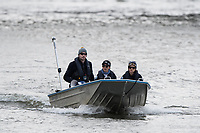 Mortlake/Chiswick, GREATER LONDON. United Kingdom Oxford University Women's   Boat  Club, Pre Boat Race Fixture  2017 Boat Race The Championship Course, Putney to Mortlake on the River Thames.<br /> OUWBC, 2nd Eight coach, [L] Jamie KIRKWOOD<br /> Saturday  18/03/2017<br /> <br /> [Mandatory Credit; Peter SPURRIER/Intersport Images]