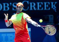 FERNANDO VERDASCO (ESP) against BERNARD TOMIC (AUS) in the First Round of the Men's Singles. Bernard Tomic beat Fernando Verdasco 4-6 6-7 6-4 6-2 7-5..16/01/2012, 16th January 2012, 16.01.2012..The Australian Open, Melbourne Park, Melbourne,Victoria, Australia.@AMN IMAGES, Frey, Advantage Media Network, 30, Cleveland Street, London, W1T 4JD .Tel - +44 208 947 0100..email - mfrey@advantagemedianet.com..www.amnimages.photoshelter.com.