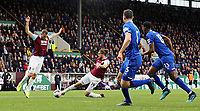 Burnley's Jay Rodriguez stretches to strike in the Everton penalty area but sees his effort saved by Jordan Pickford<br /> <br /> Photographer Rich Linley/CameraSport<br /> <br /> The Premier League - Burnley v Everton - Saturday 5th October 2019 - Turf Moor - Burnley<br /> <br /> World Copyright © 2019 CameraSport. All rights reserved. 43 Linden Ave. Countesthorpe. Leicester. England. LE8 5PG - Tel: +44 (0) 116 277 4147 - admin@camerasport.com - www.camerasport.com