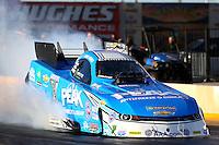Feb 3, 2016; Chandler, AZ, USA; NHRA funny car driver John Force during pre season testing at Wild Horse Pass Motorsports Park. Mandatory Credit: Mark J. Rebilas-USA TODAY Sports