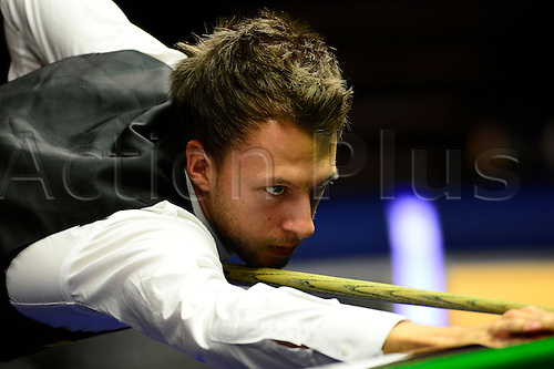 15.01.2013 London, England. Judd Trump in action against Barry Hawkins during the Masters Snooker from Alexandra Palace..