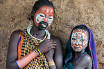 Tribal face paints by Guillermo Rubio