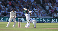South Africa's Vernon Philander hits a six of the bowling of England's Moeen Ali as the South African second innings come to a close<br /> <br /> Photographer Stephen White/CameraSport<br /> <br /> Investec Test Series 2017 - Second Test - England v South Africa - Day 3 - Sunday 16th July 2017 - Trent Bridge - Nottingham<br /> <br /> World Copyright &copy; 2017 CameraSport. All rights reserved. 43 Linden Ave. Countesthorpe. Leicester. England. LE8 5PG - Tel: +44 (0) 116 277 4147 - admin@camerasport.com - www.camerasport.com