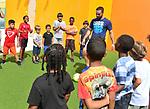 Real Madrid soccer player Dani Carvajal visit Miami Children Museum summer camp