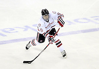 Nebraska-Omaha's Kyle Ensign. St. Cloud State and Nebraska-Omaha skated to a 2-2 tie on Nov. 27, 2011. (Photo by Michelle Bishop)