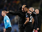 Josep Guardiola manager of Manchester City directs substitute Riyad Marhez of Manchester City during the Premier League match at Turf Moor, Burnley. Picture date: 3rd December 2019. Picture credit should read: Simon Bellis/Sportimage