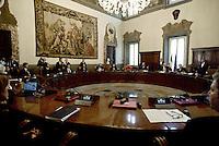 Roma, 28 Aprile 2013.Palazzo Chigi.Il primo Consiglio dei Ministri presieduto da Enrico Letta