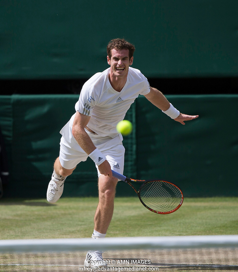 ANDY MURRAY (GBR)<br /> The Championships Wimbledon 2014 - The All England Lawn Tennis Club -  London - UK -  ATP - ITF - WTA-2014  - Grand Slam - Great Britain -  2nd July  2014. <br /> <br /> © AMN IMAGES
