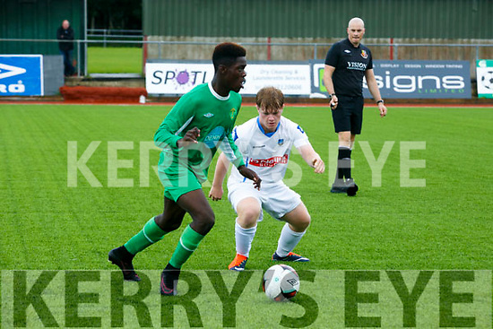 Kerry's Kevin Williams and UCD's Andy Farrell   In the SSE Airtricity Under 17 League Kerry V UCD at Mounthawk Park on Sunday