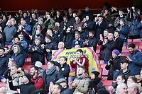 Burnley fans enjoy the atmosphere inside the Emirates Stadium<br /> <br /> Photographer David Shipman/CameraSport<br /> <br /> The Premier League - Arsenal v Burnley - Saturday 22nd December 2018 - The Emirates - London<br /> <br /> World Copyright © 2018 CameraSport. All rights reserved. 43 Linden Ave. Countesthorpe. Leicester. England. LE8 5PG - Tel: +44 (0) 116 277 4147 - admin@camerasport.com - www.camerasport.com