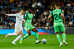 Fede Valverde  of Real Madrid and Rodrigo Tarin of CD Leganes during La Liga match between Real Madrid and CD Leganes at Santiago Bernabeu Stadium in Madrid, Spain. October 30, 2019. (ALTERPHOTOS/A. Perez Meca)