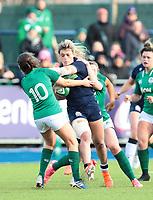2nd February 2020; Energia Park, Dublin, Leinster, Ireland; International Womens Rugby, Six Nations, Ireland versus Scotland; Hannah Smith (Scotland) is tackled by Ellen Murphy (Ireland)