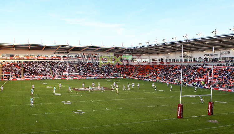 Picture by Alex Whitehead/SWpix.com - 23/05/2015 - Rugby League - Kingstone Press Championship Summer Bash - Bradford Bulls v Halifax RLFC - Bloomfield Road, Blackpool, England - GV, General View.